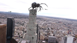 Big Ass Spider on top of a high highscraper