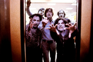 Dawn of the Dead - an elevator full of zombies