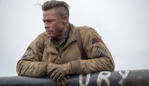 Picture of Brad Pitt as Wardaddy from the movie Fury